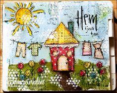 My happy place - webmosterhelene, that's me: Art journal / mixed media