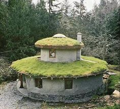 Cob house. Love the idea of sitting out on your grassy roof