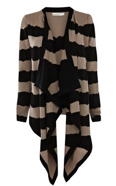 Tie dye draped front cardigan from Karen Millen.