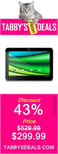 Toshiba Excite AT205T16I 10.1-Inch LED 16 GB Tablet Computer - Wi-Fi $299.99