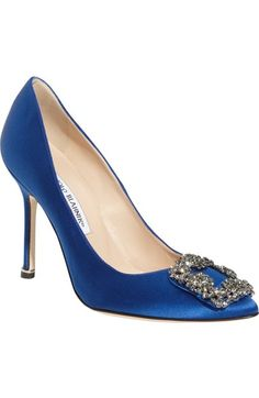 Manolo Blahnik 'Hangisi' Jeweled Pump (Women) available at #Nordstrom