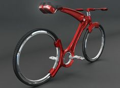 Futurist bicycle with hubless wheels looks gorgeous