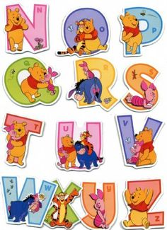 Raised Relief Sticker Set featuring the Adorable Winnie the Pooh and his Pals Helping Your Children Learn the Alphabet Winnie Pooh Baby, Winnie The Pooh Themes, Winnie The Pooh Birthday, Winnie The Pooh Friends, Learning The Alphabet, Kids Learning, Eeyore, Tigger, Alfabeto Disney