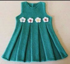 """diy_crafts-Hand Knitted Baby Dress """"Crochet Art added 101 new photos to the album: KnTtInG KiDs WeArS!"""", """"Hand Knitted Baby Dress No pattern"""", Girls Knitted Dress, Knit Baby Dress, Knitted Baby Clothes, Baby Cardigan, Knitting For Kids, Crochet For Kids, Baby Knitting Patterns, Crochet Art, Knitting Ideas"""