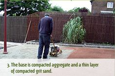 The base is compacted aggregate and a thin layer of compacted grit sand. Days Of The Year, Grass, Grasses, Herb