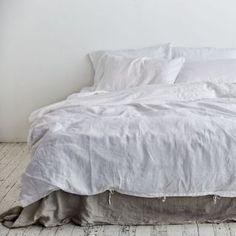 White Duver Cover - 100% Linen Duvet Cover in White - IN BED Store