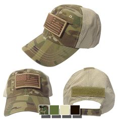 cb3bf4fb598 Nine Line Apparel - Velcro w  US Flag Patch - Mesh Back Hat