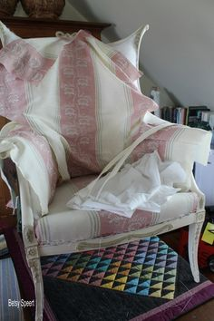 Betsy Speert's Blog: Upholstering the Inside Back of a Chair: Chapter 4