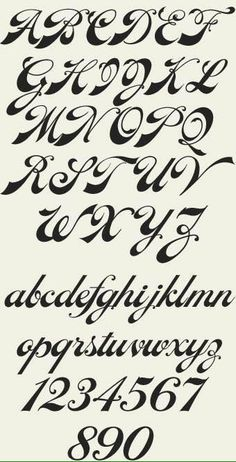 New Ideas Tattoo Fonts Alphabet Hand Lettering Tattoo Fonts Alphabet, Cursive Alphabet, Tattoo Lettering Fonts, Hand Lettering Alphabet, Graffiti Lettering, Cursive Numbers, Cursive Fonts Alphabet, Alphabet Writing, Typography Art