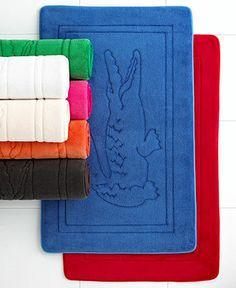 Boring Bathroom? Brighten up with color!  LACOSTE #bath #rugs BUY NOW!