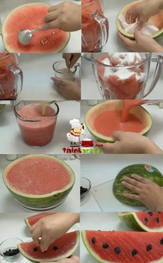 Watermelon gelatin