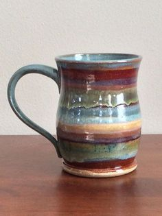 Pottery, Functional Pottery, Ceramics, Village Grind Mugs, Personalized pottery, Oswego, IL, Mother Potter, Personalized mugs, yarn bowls, Tardis mugs, Jess Dougherty