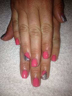 75 fruity tooty bio sculpture gel with nail art.