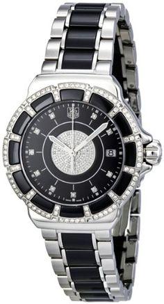 Tag Heuer Women's WAH1219.BA0859 Formula 1 Lady Black Dial Dress Watch $3,648.31 (28% OFF)