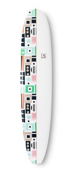#DVFlovesROXY custom Hopscotch surfboard