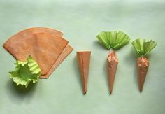 Coffee filter carrots