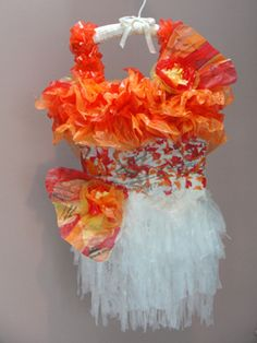 Mandarin Dress - made from recycled plastic bags Artist: Carol Ann Rice Rafferty