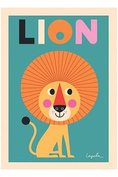 Lion Poster from Smitten for the Wee Generation