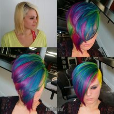 Rock your hair Vivid Hair Color, Cut And Color, Hair Colors, Color Pop, Creative Hairstyles, Cool Hairstyles, Hairstyle Ideas, Hair Ideas, Locks