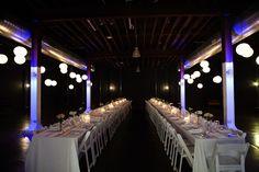 Lightspace wedding reception.    Copyright: SilverEdge Photography