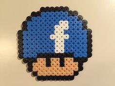 Facebook mushroom perler beads by Bjrnbr - Björn Börjesson