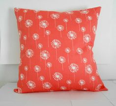 Coral Pillow Cover Home Decor Pillow White by SarahLyallHome