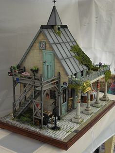 Make mine a fairy house. Vitrine Miniature, Miniature Rooms, Miniature Houses, Dollhouse Dolls, Dollhouse Miniatures, Victorian Dollhouse, Modern Dollhouse, Fairy Houses, Doll Houses