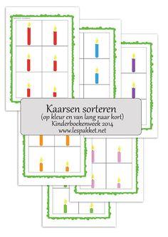 linkfeestje kinderboekenweek 2014 - thema feest - kaarsen sorteren - Lespakket