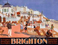 Poster advertising travel to Brighton