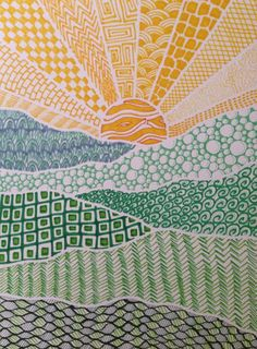Zentangle The Art Of Jordan: The Art of the Land Doodle Art Art doodle art Jordan Land Zentangle Zentangle Patterns, Zentangles, Doodle Patterns, Cool Patterns To Draw, Zentangle Drawings, Art Patterns, Pattern Art, Ecole Art, Art Classroom