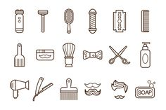 Barber Shop or Hairdresser icons by TopVectors on Creative Market