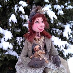 Goblin - Fantasy Doll - Troll - OOAK - Goblin - Elf - Handmade - Fairy - Doll - Primitive - Fantasy - Art Doll - Whimsical - Scandinavian by Rustiikkitupa on Etsy
