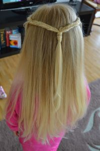half up do with two fishtail braids