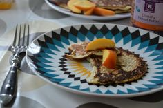 Brændstof: Sunde morgenpandekager Banana Pancakes, Food Pictures, Recipies, About Me Blog, Eggs, Sweets, Cooking, Breakfast, Healthy