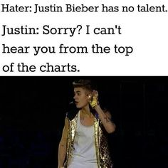 Sorry? I cant hear you from the top of the charts.
