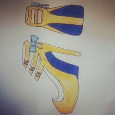 #Highheels #Yellow #Blue