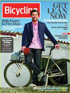 Patrick Dempsey Covers 'Bicycling' January/February 2013
