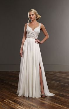 Sexy, chic, and romantic – a dream come true for the fashion-forward bride. This Martina Liana combination features the Blair bodysuit and the Shae skirt.
