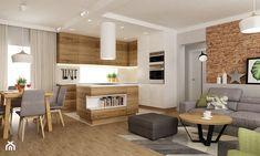 Aranżacje wnętrz - Salon: dom ok 100m2 metamorfoza - Średni salon z kuchnią z jadalnią, styl nowoczesny - Grafika i Projekt architektura wnętrz. Przeglądaj, dodawaj i zapisuj najlepsze zdjęcia, pomysły i inspiracje designerskie. W bazie mamy już prawie milion fotografii!