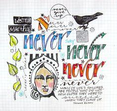 Art du Jour by Martha Lever: Letter Collage 2