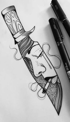 This but with a cowboy and hat knife tattoo, r tattoo, cool tattoos, Mermaid Tattoos, Small Tattoo Designs, Sketches, Tattoos, Tattoos For Guys, Tattoos For Women, Knife Tattoo, Sleeve Tattoos, Tattoo Drawings