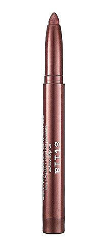 Ditch the slate smoky eye, and go for a soft chocolate brown, plum, or mossy green. You'll look like a rock star, only more sophisticated. Try Stila Smudge Crayon Waterproof Eye Primer + Shadow + Liner in Umber