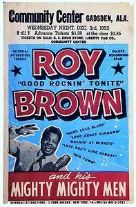 "Roy Brown Concert Poster 16"" x 12"""
