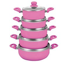 Give your Kitchen the Feminine Touch with these Cool Pink Pots and Pans - Stylish Eve Fuchsia, Pink Purple, Hot Pink, Pink Love, Pretty In Pink, Vintage Pink, My Favorite Color, My Favorite Things, Stylish Eve