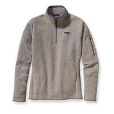 Natural with Fether Grey Patagonia Women's Better Sweater™ 1/4-Zip