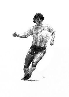 design shout: Players illustrations by Dave Merrell Football Icon, Football Is Life, Football Art, Street Football, Milan Football, Football Boots, Football Player Drawing, Football Players, Maradona Tattoo