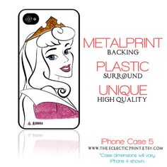 now I want an iPhone     Disney Princess Aurora Minimalist iPhone 5 by TheEclecticPrint, $28.50