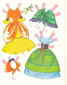 Bonecas de Papel: Cinderella-clothes