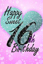 Sweet 16 - Free Printable Birthday Card | Greetings Island