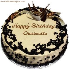 happy birthday chocolate cake images with name editor - How To Make Crazy PARTY Happy Birthday Cake Writing, Happy Birthday Chocolate Cake, Happy Birthday Wishes Cake, Happy Birthday Cake Images, Birthday Chocolates, Birthday Cake With Candles, Birthday Cakes For Women, Birthday Cake Girls, Free Birthday